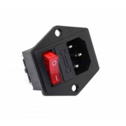 3 Pin Rocker Switch With Socket & Fuse 15A AC220V