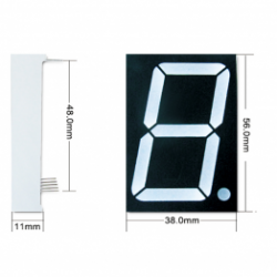 1.8 inch 7-segment led display single digit