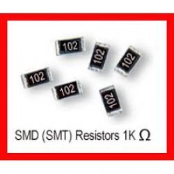 1K Ohms Resistor 1/4W SMD