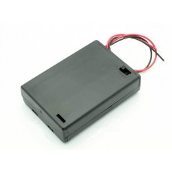 3xAA Battery Holder With Cover On/Off