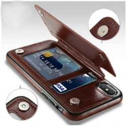 PU Leather Case With Wallet Holder For Samsung S8, 9,  IPhone