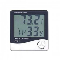 HTC 1 Digital LCD Hygrometer Temperature Clock Humidity Thermometer