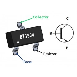 MMBT3904 NPN Transistor SOT-23 SMD