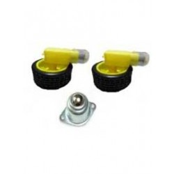 MOTOR WHEEL AND BALL CASTER SET