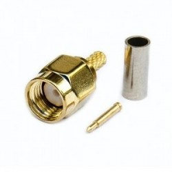 SMA Connector Male Plug Solder Crimp