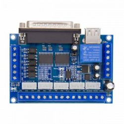 Upgraded 5 Axis CNC Controller Motor Driver Mach3 + USB