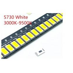 SMD LED 3-4V Size 5730 CW WW 0.5W White
