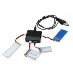 Mini 4 Port 3.7v Lipo Battery Charger