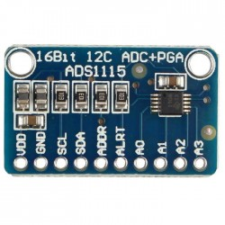ADS1115 16-Bit I2C ADC Development Board For Arduino