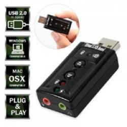 USB 2.0 External Virtual 7.1 Surround Sound Adapter